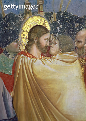 The Betrayal of Christ/ detail of the kiss/ c.1305 (fresco) (detail of 65199) - gettyimageskorea