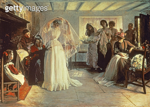 <b>Title</b> : The Wedding Morning, 1892 (oil on canvas)<br><b>Medium</b> : oil on canvas<br><b>Location</b> : Lady Lever Art Gallery, National Museums Liverpool<br> - gettyimageskorea
