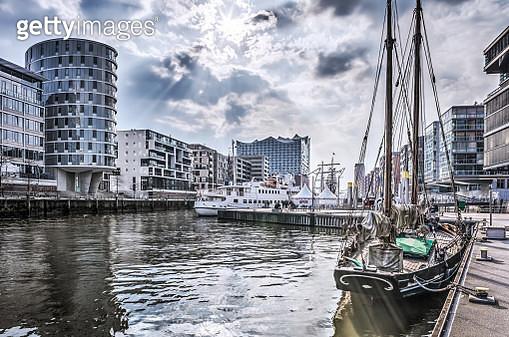 Hamburg Hafencity HDR - gettyimageskorea