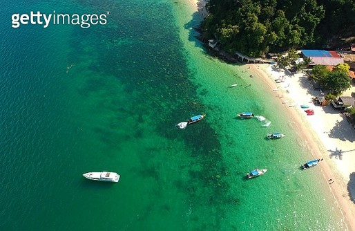 High Angle View Of Beach And Sea - gettyimageskorea
