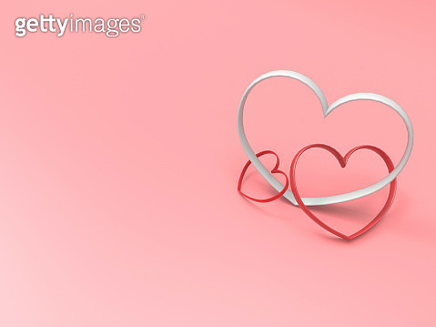 Close-Up Of Heart Shapes Over Colored Background - gettyimageskorea