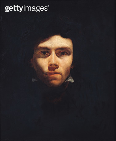 <b>Title</b> : Portrait of Eugene Delacroix (1798-1863) c.1818-19 (oil on canvas)<br><b>Medium</b> : oil on canvas<br><b>Location</b> : Musee des Beaux-Arts, Rouen, France<br> - gettyimageskorea