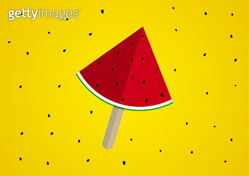 Vector watermelon background design - gettyimageskorea
