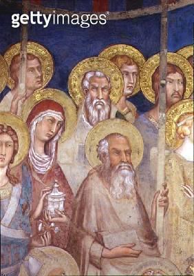<b>Title</b> : Maesta, detail of saints, 1315 (fresco)<br><b>Medium</b> : fresco<br><b>Location</b> : Palazzo Pubblico, Siena, Italy<br> - gettyimageskorea