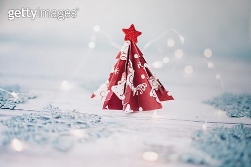 origami christmas tree - gettyimageskorea