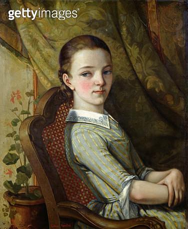 <b>Title</b> : Juliette Courbet (1831-1915) 1844 (oil on canvas)<br><b>Medium</b> : oil on canvas<br><b>Location</b> : Musee de la Ville de Paris, Musee du Petit-Palais, France<br> - gettyimageskorea
