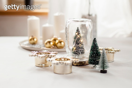 Christmas decoration on table - gettyimageskorea