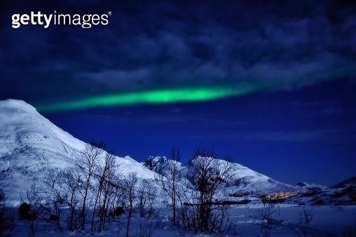Northern Lights near Tromso, Norway - gettyimageskorea