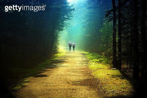 Couple Walking Hand in Hand - gettyimageskorea