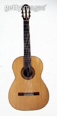 Classical guitar made by Herman Hauser/ Munich/ 1928 (wood/ ebony and bone) - gettyimageskorea