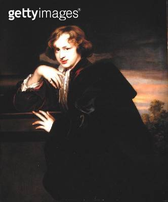 <b>Title</b> : Portrait of Sir Anthony van Dyck (1599-1641) (oil on canvas)Additional Inforeplica of a self portrait;<br><b>Medium</b> : oil on canvas<br><b>Location</b> : Private Collection<br> - gettyimageskorea