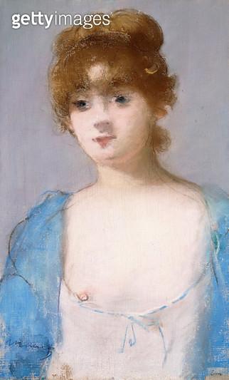 Girl in Dressing Gown (Jeune Fille en Deshabille). 1882 - gettyimageskorea