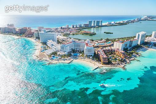 Aerial of Cancun, Quintana Roo, Mexico - gettyimageskorea
