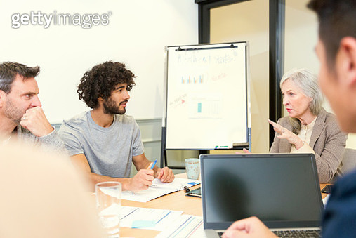 Creative business people having meeting in office - gettyimageskorea