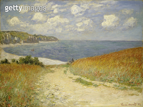 <b>Title</b> : The Meadow Road to Pourville, 1882 (oil on canvas)<br><b>Medium</b> : oil on canvas<br><b>Location</b> : Private Collection<br> - gettyimageskorea