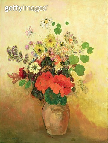 <b>Title</b> : Vase of Flowers, c.1908-10 (oil on canvas)<br><b>Medium</b> : oil on canvas<br><b>Location</b> : Private Collection<br> - gettyimageskorea
