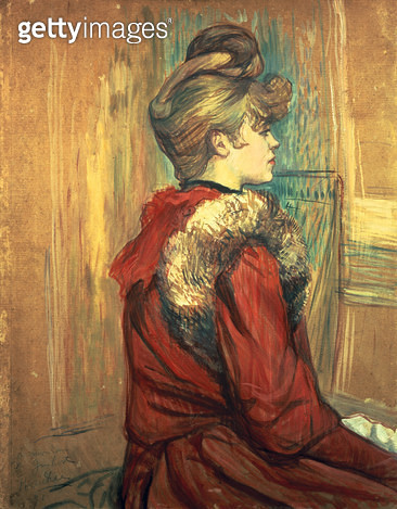 <b>Title</b> : Girl with a Fur Stole, Mademoiselle Jeanne Fontaine, 1891 (oil pastel on board)<br><b>Medium</b> : oil pastel on board<br><b>Location</b> : Private Collection<br> - gettyimageskorea