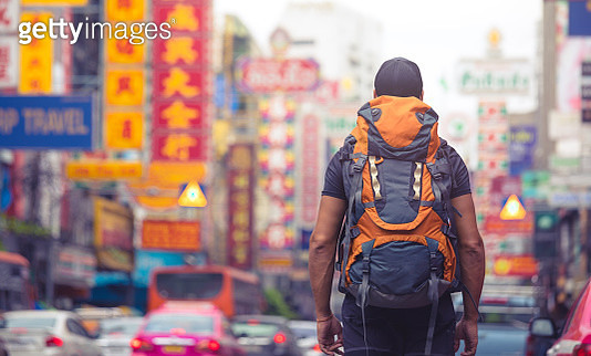 backpacker traveling alone in asia . . - gettyimageskorea