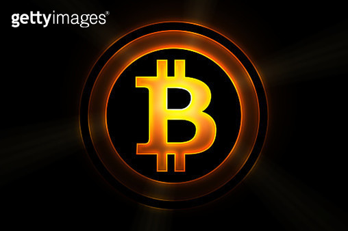 Bitcoin currency icon - gettyimageskorea