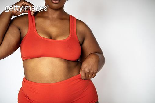 African plus size female model in lingerie - gettyimageskorea