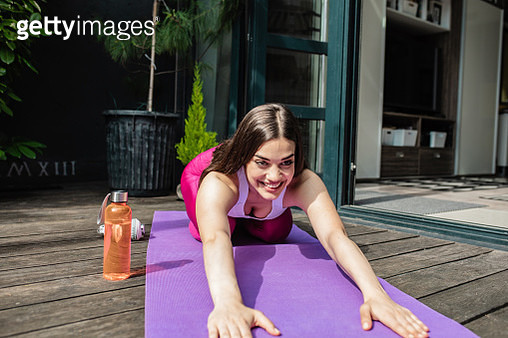 Healthy lifestyle with yoga at home - gettyimageskorea