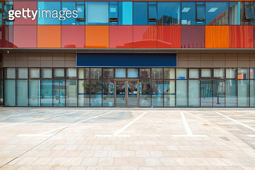Colorful office buildings - gettyimageskorea