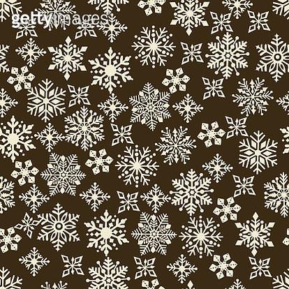 Snowflake seamless pattern . - gettyimageskorea