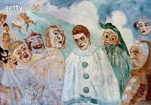 <b>Title</b> : The Despair of Pierrot (Jealous Pierrot) 1892 (oil on canvas)<br><b>Medium</b> : oil on canvas<br><b>Location</b> : Private Collection<br> - gettyimageskorea