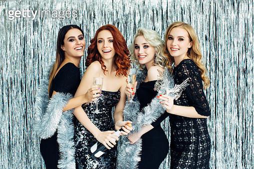 Photo of beautiful girls celebrating new year - gettyimageskorea