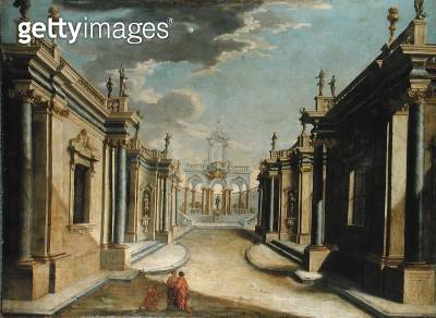 <b>Title</b> : An Architectural Capriccio Depicting the Story of the Daughters of Minyas (oil on canvas)Additional Infoinscribed with quotation<br><b>Medium</b> : oil on canvas<br><b>Location</b> : Private Collection<br> - gettyimageskorea