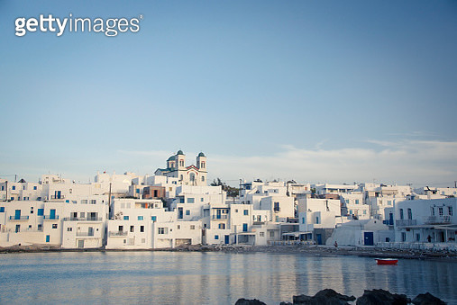 Greece, Cyclades, townscape of Paros - gettyimageskorea