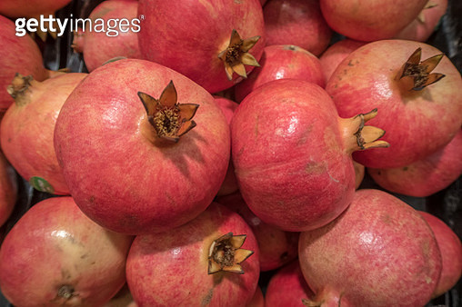 Red Pomegranate, Fruit, Singapore, Asia - gettyimageskorea