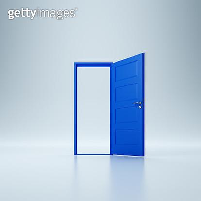 Blue door - gettyimageskorea