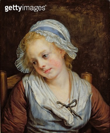 <b>Title</b> : Young Girl (oil on canvas)<br><b>Medium</b> : oil on canvas<br><b>Location</b> : Musee Conde, Chantilly, France<br> - gettyimageskorea