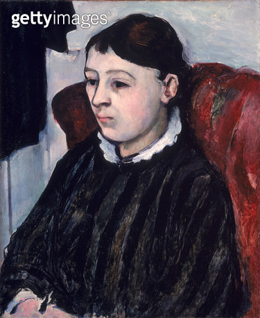 <b>Title</b> : Madame Cezanne, c.1883-85 (oil on canvas)<br><b>Medium</b> : oil on canvas<br><b>Location</b> : Private Collection<br> - gettyimageskorea