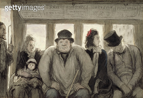 <b>Title</b> : The Omnibus, 1864 (ink, w/c & lithographic crayon on paper)<br><b>Medium</b> : ink, watercolour and lithographic crayon on paper<br><b>Location</b> : Walters Art Museum, Baltimore, USA<br> - gettyimageskorea