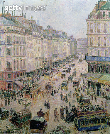<b>Title</b> : Rue de l'Epicerie, Rouen, on a Sunny Afternoon, 1893 (oil on canvas)<br><b>Medium</b> : oil on canvas<br><b>Location</b> : Private Collection<br> - gettyimageskorea