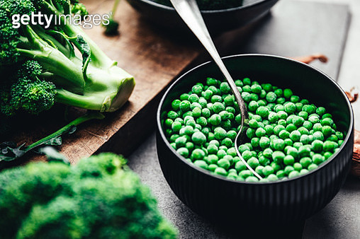Ingredients for making green vegan soup - gettyimageskorea