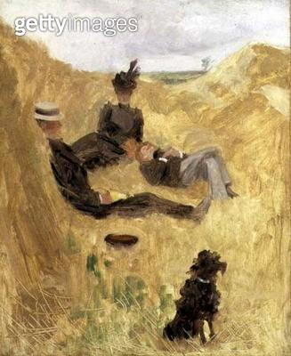 <b>Title</b> : Picnic in the Country (w/c on paper)<br><b>Medium</b> : watercolour on paper<br><b>Location</b> : Private Collection<br> - gettyimageskorea