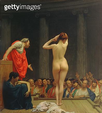 <b>Title</b> : A Roman Slave Market (oil on canvas)<br><b>Medium</b> : oil on canvas<br><b>Location</b> : Walters Art Museum, Baltimore, USA<br> - gettyimageskorea