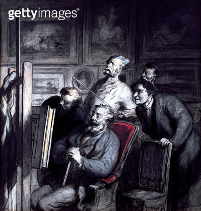 <b>Title</b> : The Amateurs, after 1862 (crayon, w/c ink & gouache on paper)<br><b>Medium</b> : crayon, watercolour, ink and gouache on paper<br><b>Location</b> : Walters Art Museum, Baltimore, USA<br> - gettyimageskorea