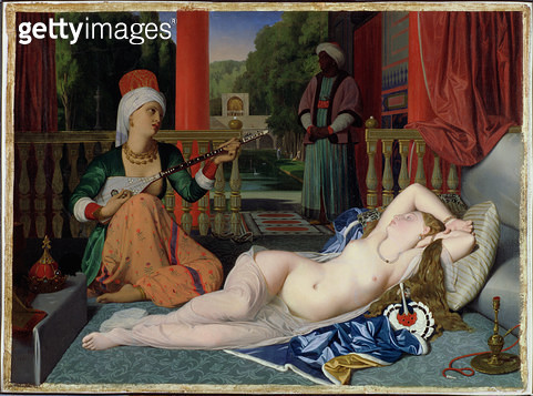 <b>Title</b> : Odalisque with Slave, 1842 (oil on canvas)<br><b>Medium</b> : oil on canvas<br><b>Location</b> : Walters Art Museum, Baltimore, USA<br> - gettyimageskorea