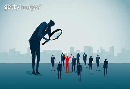 standing out from the crowd - gettyimageskorea