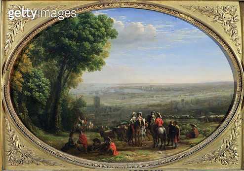 <b>Title</b> : The Siege of La Rochelle by Louis XIII (1601-43) October 1628, c.1631 (oil on canvas)<br><b>Medium</b> : oil on canvas<br><b>Location</b> : Louvre, Paris, France<br> - gettyimageskorea
