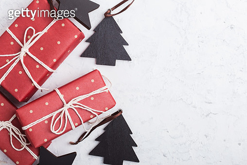 Christmas gift boxes and decoration - gettyimageskorea