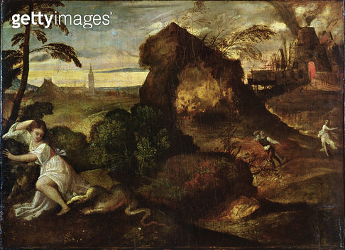 <b>Title</b> : Orpheus and Eurydice (oil on canvas)<br><b>Medium</b> : oil on canvas<br><b>Location</b> : Galleria dell' Accademia Carrara, Bergamo, Italy<br> - gettyimageskorea