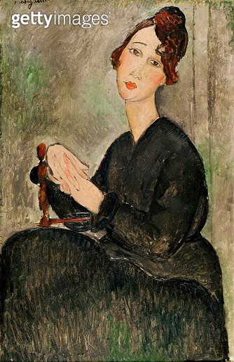 <b>Title</b> : Portrait of Dedie Hayden, 1918 (oil on canvas)<br><b>Medium</b> : oil on canvas<br><b>Location</b> : Musee National d'Art Moderne, Centre Pompidou, Paris, France<br> - gettyimageskorea
