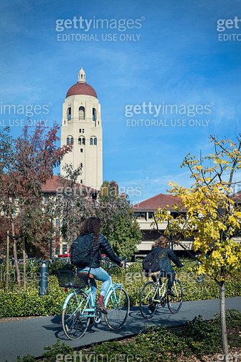 Biking to Class - Stanford University - gettyimageskorea