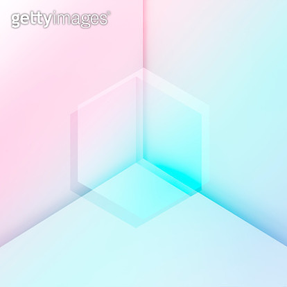 Geometric transparent shapes - gettyimageskorea