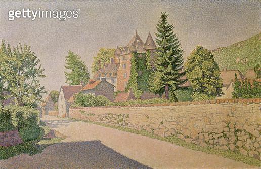 <b>Title</b> : Chateau de Comblat, c.1887 (oil on canvas)<br><b>Medium</b> : oil on canvas<br><b>Location</b> : Musee d'Art Moderne et d'Art Contemporain, Liege, Belgium<br> - gettyimageskorea